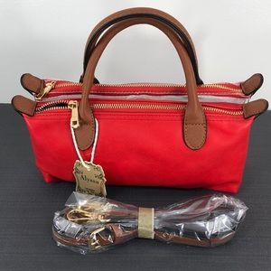Alyssa Purse Bag NWT Red/Clear Vegan Approved